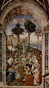 Fresco at the Siena Cathedral by Pinturicchio depicting Pope Pius II