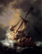 Christ in the Storm on the Lake of Galilee,, REMBRANDT Harmenszoon van Rijn