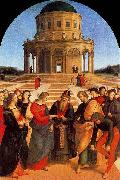The Wedding of the Virgin, Raphael most sophisticated altarpiece of this period.