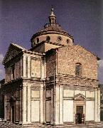 SANGALLO, Giuliano da Exterior of the church begun oil painting