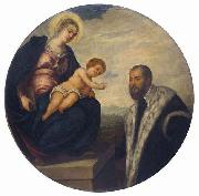 Madonna with Child and Donor,, Tintoretto