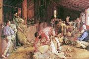 Tom roberts Shearing the Rams oil painting reproduction