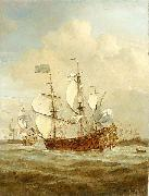 HMS St Andrew at sea in a moderate breeze, painted