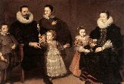 VOS, Cornelis de Family Portrait oil painting