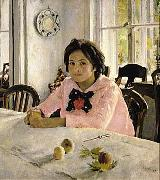 The girl with peaches  was the painting that inaugurated Russian Impressionism., Valentin Serov