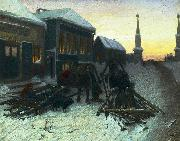 Vasily Perov The last tavern at the city gates oil painting reproduction