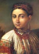 Vasily Tropinin Girl from Podillya, oil painting