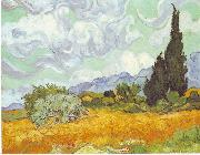 Cornfield with Cypresses, Vincent Van Gogh