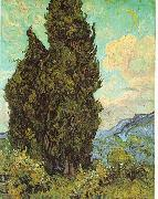 Vincent Van Gogh Cypresses oil painting reproduction