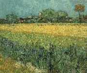 View of Arles with Irises, Vincent Van Gogh