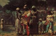 Carnival costumes for dress up, Winslow Homer