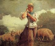 Winslow Homer Shepherdess oil painting reproduction