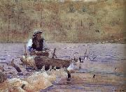 Anglers on the boat, Winslow Homer