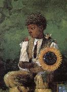 Dedicated to the teacher s sunflower, Winslow Homer