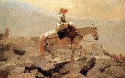 Winslow Homer Hakusan in horse riding trails oil painting on canvas