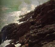 Coastal cliffs, Winslow Homer