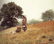 Boys and girls on the hill, Winslow Homer