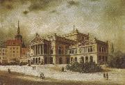 arthur o shaughnessy the leipzig opera house in the augstusplatz oil painting artist