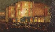 arthur o shaughnessy outide the bayreuth festspielhaus oil painting artist