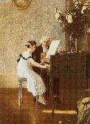 george bernard shaw Young lady to accept fees from her piano teacher oil painting artist