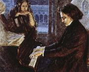 oscar wilde an artist s impression of chopin at the piano composing his preludes oil painting