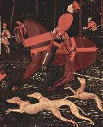 Portion of Paolo Uccello The Hunt, paolo uccello