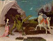 paolo uccello A gothicizing tendency of Uccello art is nowhere more apparent than in Saint George and the Dragon oil painting