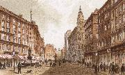 richard wagner the graben, one of the principal streets in vienna oil painting artist