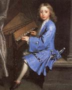 samuel pepys an 18th century painting of young man playing the spinet by jonathan richardson oil painting