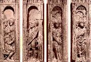 Four reliefs with the trials of Saint Peter