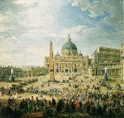 wolfgang amadeus mozart the square in front of st peter s basilica in rome oil painting