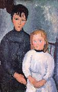 Amedeo Modigliani Iwo cbidren oil painting reproduction