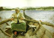 Anders Zorn kyrkfard oil painting reproduction