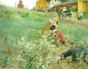 Anders Zorn mora marknad oil painting reproduction