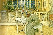 Carl Larsson kvallen forre resan till England oil painting reproduction