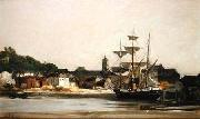 The Harbour at Honfleur, Charles-Francois Daubigny