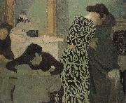 Has a floral pattern for clothing, Edouard Vuillard