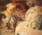 Three women in the sofa