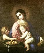 virgin and child with st