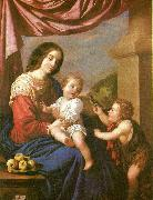virgin and child with st,