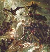 Girodet-Trioson, Anne-Louis Ossian receiving the Ghosts of the French Heroes oil painting