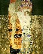 Gustav Klimt kvinnans tre aldrar, oil painting reproduction