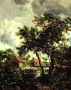 Meindert Hobbema kvarnen oil painting reproduction