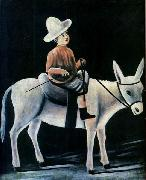 Niko Pirosmani A Little Boy Riding a Donkey oil painting