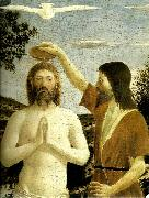 Piero della Francesca details from the baptism of chist oil painting reproduction
