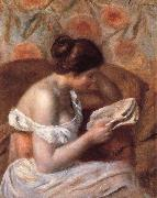 woman reading, Pierre Auguste Renoir