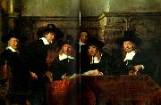 REMBRANDT Harmenszoon van Rijn styresmannen for kladeshandlarskraet oil painting reproduction