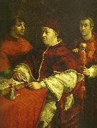 Raphael pope leo x with cardinals giulio de' oil painting reproduction