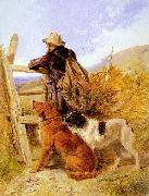 Richard ansdell,R.A. The Gamekeeper oil painting