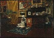 William Merritt Chase Studio Interior oil painting